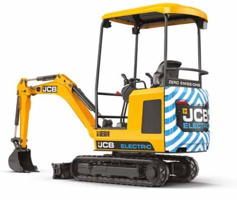 Side view of JCB 19C-1E electric digger